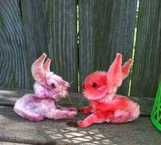 monkeybox: Vintage Chenille bunnies.