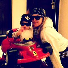 """Pin for Later: Fergie, Britney, Beyoncé, and More! Celeb Parents Took Some Adorable Snaps of Their Kids This Week  Fergie and her son, Axl Duhamel, were """"#roaddogz4life"""" after Josh went to set. Source: Instagram user fergie"""