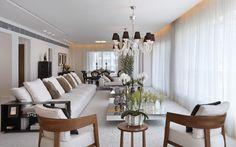 Apartamento no condomínio FontVieille — Barra da Tijuca, RJ / Ana Lucia Jucá #living #lighting #decor