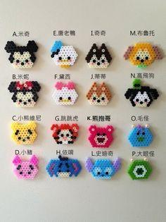 【涵館】手工拼豆-迪士尼tsum tsum 可愛造型(1組16入)-鑰匙圈、包包掛件(可當婚禮小物)