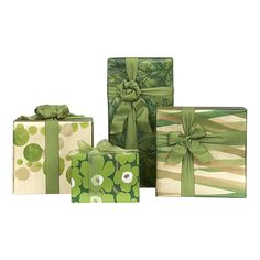 Marimekko gold and green wrapping paper. Love the dots and the floral.