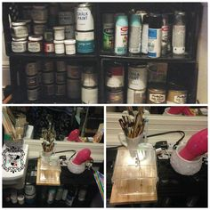Transformed Treasures Tuesday no 9 http://makinmyaptahome.com/2014/08/transformed-treasures-tuesday-no-9.html?utm_campaign=coschedule&utm_source=pinterest&utm_medium=MakinMyAptaHome%20(my%20blog)&utm_content=Transformed%20Treasures%20Tuesday%20no%209 Using #milkcrates for #paintstorage