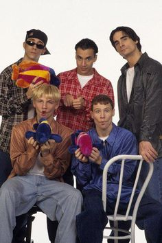 AJ McLean Howie Dorough Kevin Richardson Brian Littrell and Nick Carter of the Backstreet Boys attend a 1997 photo shoot in New York Brian Littrell, Kevin Richardson, Nick Carter, Backstreet Boys, Lou Pearlman, America's Best Dance Crew, Cute Puppy Names, Very Cute Puppies, Then And Now Pictures