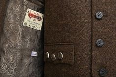 Brown paisley lining, available in other colours - worn here with brown tweed jacket and waistcoat. Available as a sample in our showroom in Kings Cross, London. www.kilts4all.com