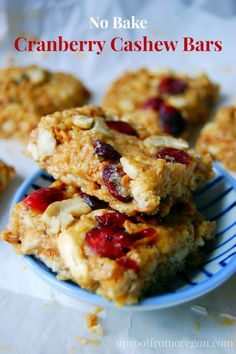 No Bake Cranberry Cashew Bars | Uproot from Oregon