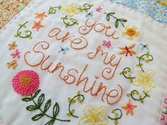 Saturday Stitches: You make me happy when skies are gray...Hand Embroidery Pattern  by SarahEdgarDesigns, $4.75, Etsy