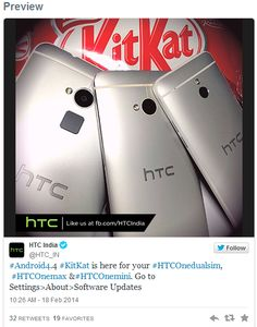 HTC One dual SIM, One mini, and One Max, Getting Taste of Kitkat in INDIA - ANDROID-DIRT