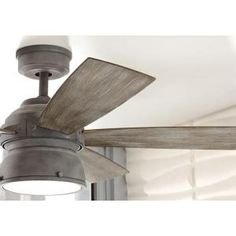 Home Decorators Collection, 52 in. Indoor/Outdoor Weathered Gray Ceiling Fan, 89764 at The Home Depot - Mobile