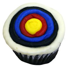 archery target cupcakes, brave party