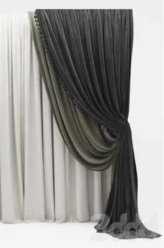 Window Drapes, Curtains With Blinds, Curtain Fabric, Curtain Rods, Curtain Styles, Beautiful Curtains, Window Styles, Window Dressings, Kitchen Curtains