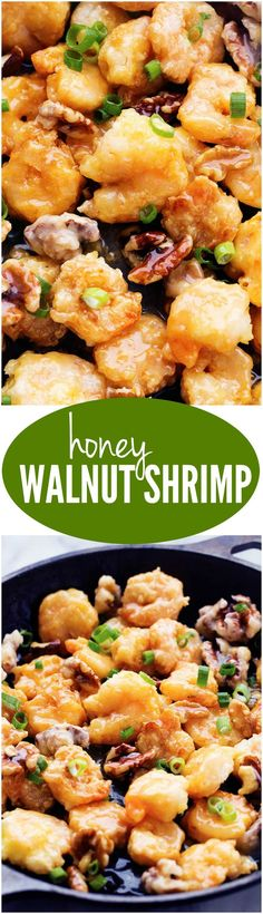 This Honey Walnut Shrimp is SO much better than takeout!! The shrimp are crispy and sweet and the best shrimp you will eat!