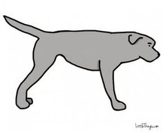 If a dog's tail juts straight out, (s)he feels threatened.