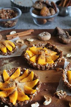 This Rawsome Vegan Life: coconut mango tarts with figs, walnuts, cinnamon + ginger