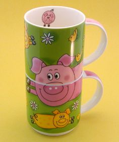 Maxwell Williams Piggy Mug Twin Set