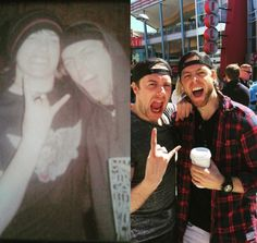 Jamie and Matt Before Jamie was in the band (Left) ten years later right after Jamie joined (right) Am I Going Insane, Bullet For My Valentine, Bring Me The Horizon, Linkin Park, Fine Men, Happy Birthday Me, Metal Bands, Hyde, Metallica