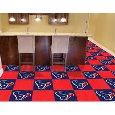 This is what I want for my new house lol! Houston Texans Carpet Tiles Flooring