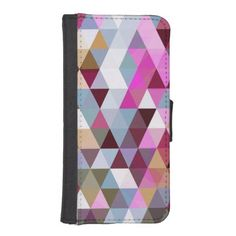 Triangle Mix #3 - iPhone 5/5S Wallet Case