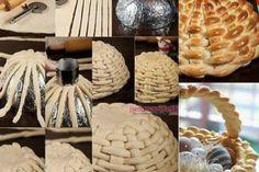 Sepet şeklinde ekmek yapımı
