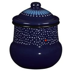 Folklore Enamel Large Sugar Bowl