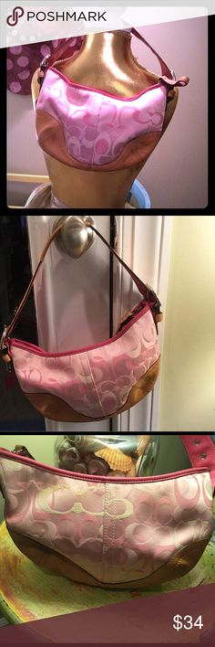 Coach mini purse Pre loved and carried.  Have plenty of wear left in it. Coach Bags Mini Bags