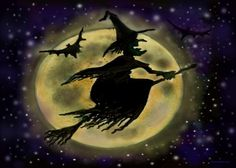 pictures of halloween paintings | halloween cat halloween fairy halloween lantern halloween wizard ...
