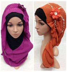Fashion New Multicolor Pearl Design With Flower High Quality QMilch Muslim Hijab & Scarves Free Shipping