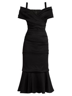 Dolce & Gabbana Off-the-shoulder jersey midi dress