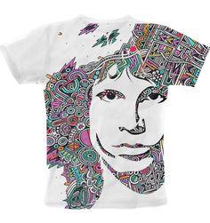 Doodle Art Jim Morrison T-Shirt