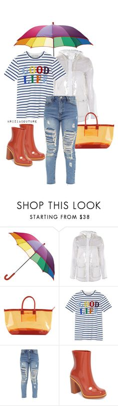 """Rainy Days ☔️"" by kriziacouture ❤ liked on Polyvore featuring Topshop, Stephanie Johnson, Être Cécile and Melissa"