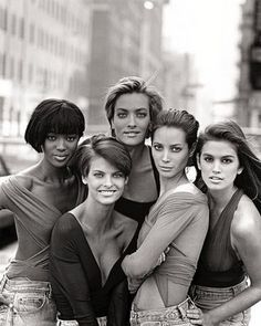 """the super models from the george michael """"freedom"""" video"""