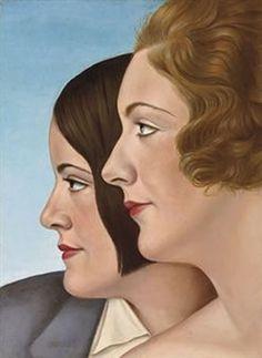 Christian Schad (German artist, 1894–1982) [Dada, New Objectivity, Cubism 1915-1916] Friends, 1930.