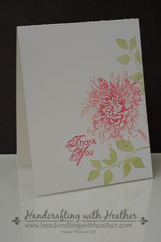 Heather's CAS one layer card: Blooming With Kindness and Summer Silhouettes. All supplies from Stampin' Up!