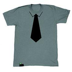 Tie Chalk Tee Men's Gray now featured on Fab. [Class Attire]