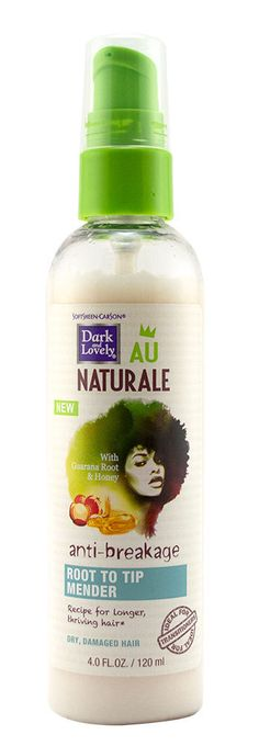 Luxe Beauty Supply - Dark and Lovely® Au Naturale Anti-Breakage Root to Tip Mender 4 oz (http://www.lhboutique.com/dark-and-lovely-au-naturale-anti-breakage-root-to-tip-mender-4-oz/) #HairCare, #luxebeautysupply, #NaturalHairCare