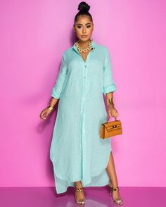 Classy Summer Outfits, Chic Couture Online, Blue Dresses, Shirt Dress, Stylish, Outfit Styles, Model, Shirts, Beauty