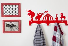 Circus Theme Kids Coat Hanger Coat hooks modern by Einadesign