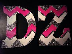 DIY delta zeta chevron letters!