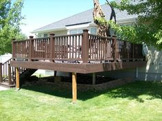 Raised Decks provide a simple solution for elevated doors.