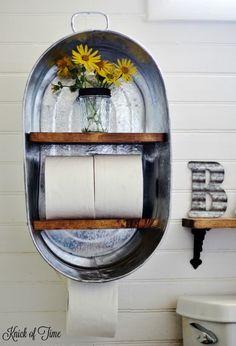 20+ Ideas Creativas para Hacer Estantes Colgantes para Cuarto Baño