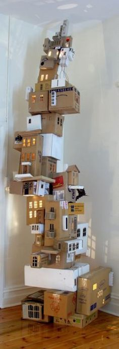 Annalise Rees, The Sky is Falling (Henny Penny's Lament), 2008 #Installation #Cardboard #Annalise_Rees