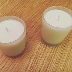 Clean Cotton votive candle set  Available at iheartyoumore.com