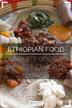 Ethiopian food guide to know the best dishes to eat from injera to stews (wats) kitfo and coffee. Includes Ethiopian vegetarian food and meat dishes. Vegetarian Recipes, Cooking Recipes, Healthy Recipes, Ethiopian Cuisine, Ethiopian Recipes, Ethiopian Food Injera, Ethopian Food, Der Arm, Best Dishes