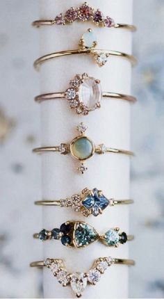 (I like the top four) Non traditional engagement rings Cute Jewelry, Jewelry Rings, Jewelry Accessories, Fashion Accessories, Fashion Jewelry, Jewlery, Dainty Jewelry, Diamond Jewelry, Gold Jewelry