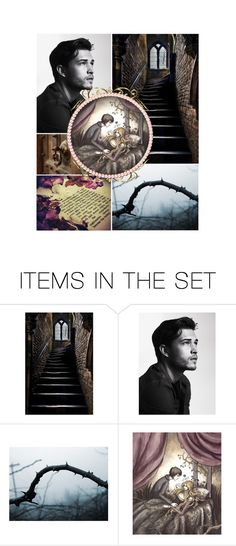 """""""Your Highness, more than fifty years ago I heard my father say that in this castle lies a princess, the most beautiful that has ever been seen. It is her doom to sleep there for a hundred years, and then to be awakened by a king's son..."""" by buffykdh ❤ liked on Polyvore featuring art and BOTSG05"""