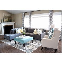 @Sita Montgomery added our Vapor Sectional & Geo Panels to this budget friendly family room.