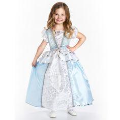 Blue White Ruffle Princess Dress