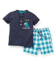 Carter Newborn-24 Meses Capitão Adorável Camisa e Shorts Set | Dillards.com