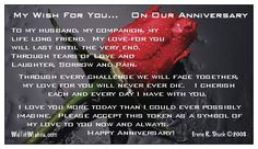 Happy anniversary to my husband I will love you forever Tim Yinger...