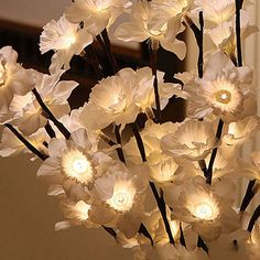 White Daffodil Light - Large by The Light Garden - http://www.lightopiaonline.com/white-daffodil-light-large.html