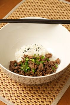 Korean Beef. Ground beef with garlic and ginger. Done in 15 mins.
